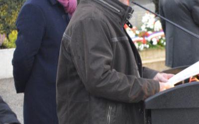 11 novembre 2018 – Discours de Jean Aubourg, le maire
