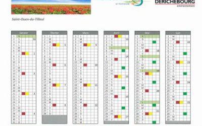 SDOMODE – calendrier de collecte 2021